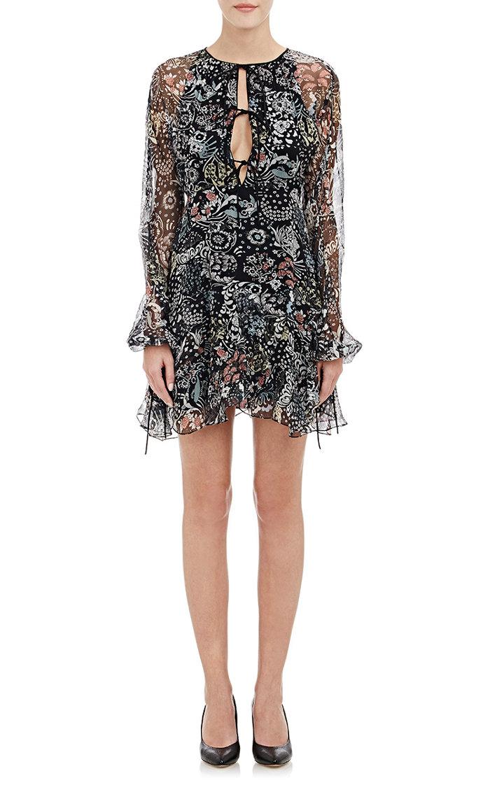 Chloe Long Sleeve Mini Dress with Ruffles