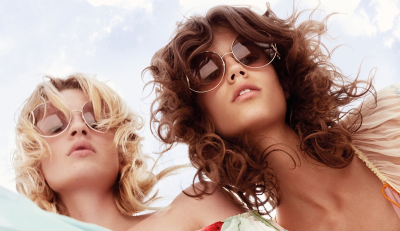 A Chloe spring 2016 campaign image featuring the new season sunglasses
