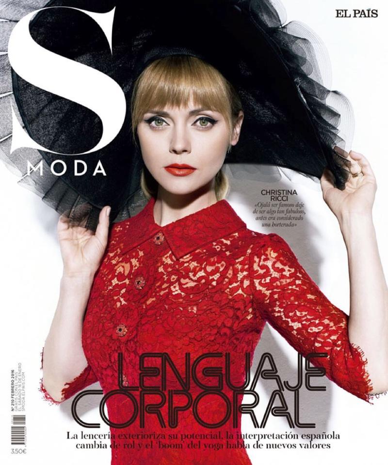 Christina Ricci on S Moda February 2016 cover