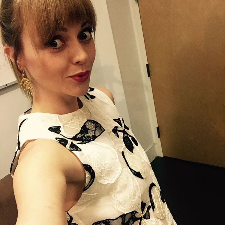 Christina Ricci takes a selfie before her Watch What Happens Live appearance. Photo: Instagram