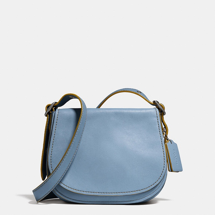 Coach Cornflower Blue Saddle Bag