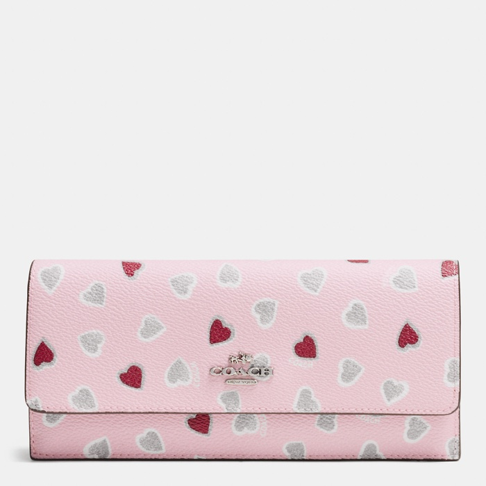 Coach Heart Print Wallet