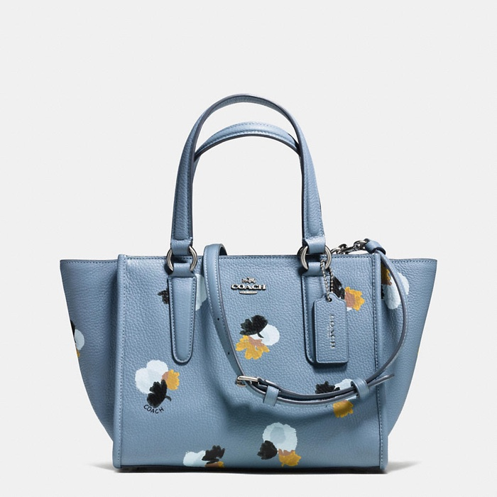 Coach Nolita Floral Print Pebble Leather Bag