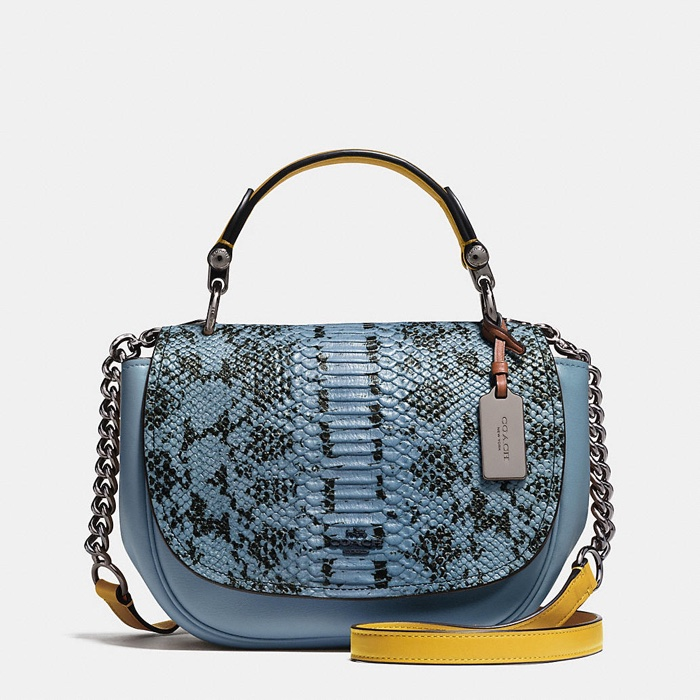 Coach Nomad Crossbody Bag with Exotic Print Leather