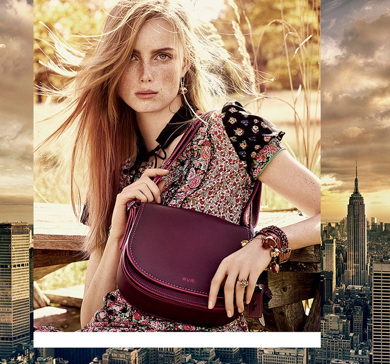 Rianne van Rompaey stars in Coach's spring-summer 2016 campaign
