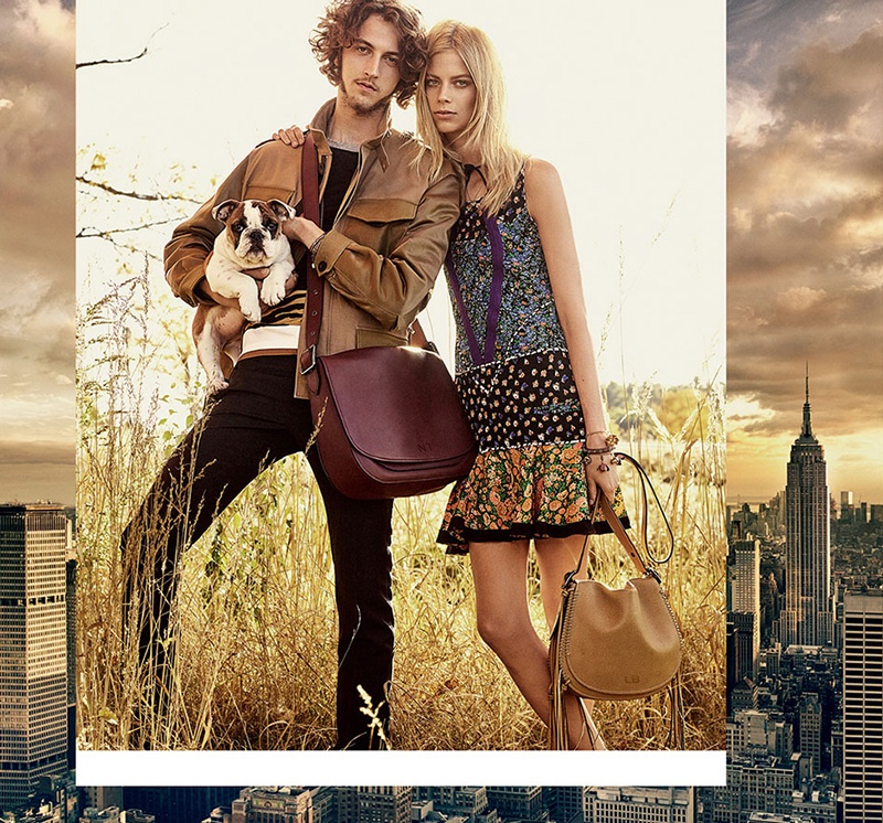 Niels Trispel and Lexi Boling star in Coach's spring-summer 2016 campaign