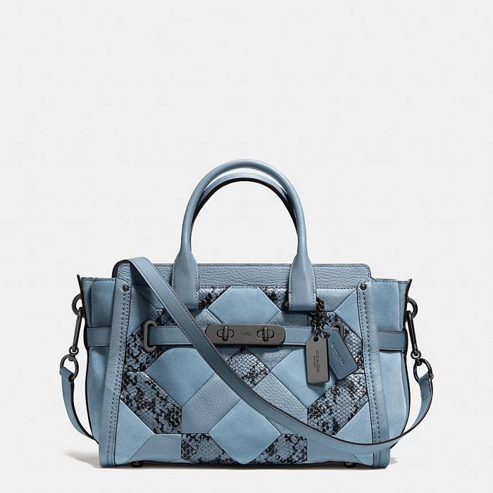 Coach Swagger 27 Patchwork Exotic Print