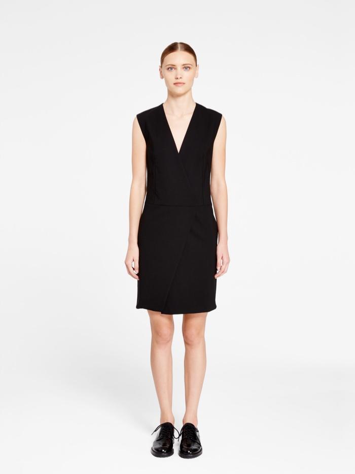 DKNY Black Dress with Front Slit