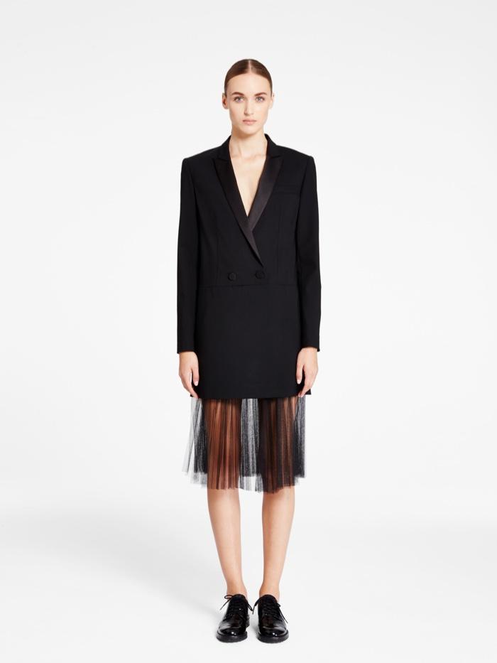 DKNY Dress with Satin Peak Lapel