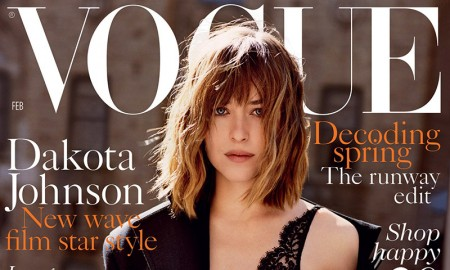 Dakota Johnson on Vogue UK February 2016 cover