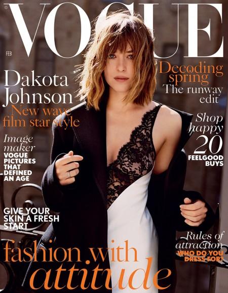 Dakota Johnson Slips Into Celine Dress for Vogue UK Cover