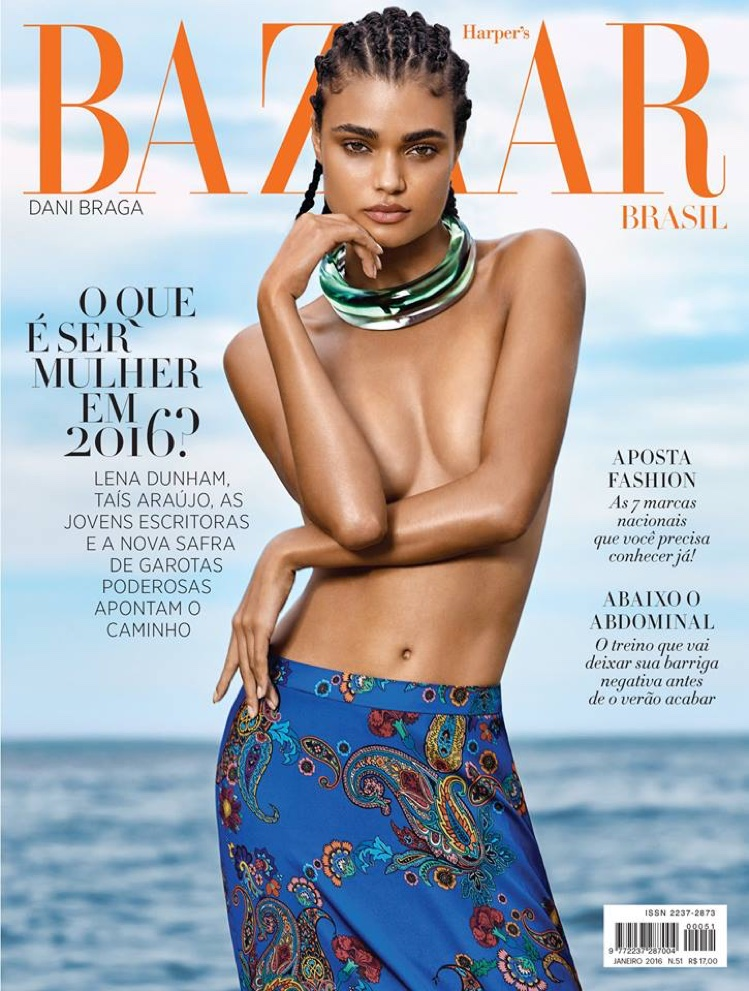 Daniela Braga on Harper's Bazaar Brazil January 2016 cover