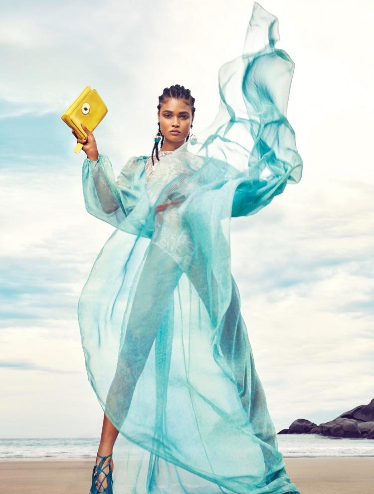 Daniela Braga stars in Harper Bazaar Brazil's January issue