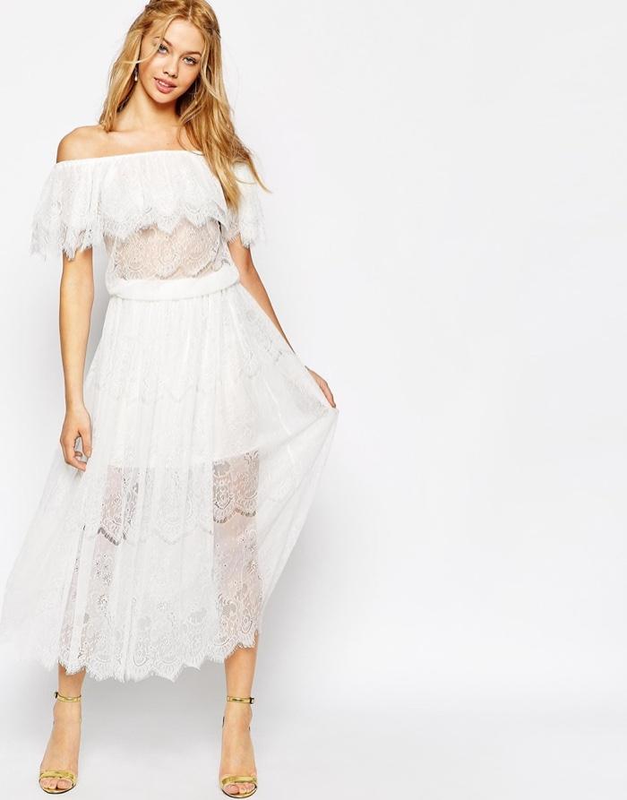 Bohemian Lace Maxi Dresses Shop