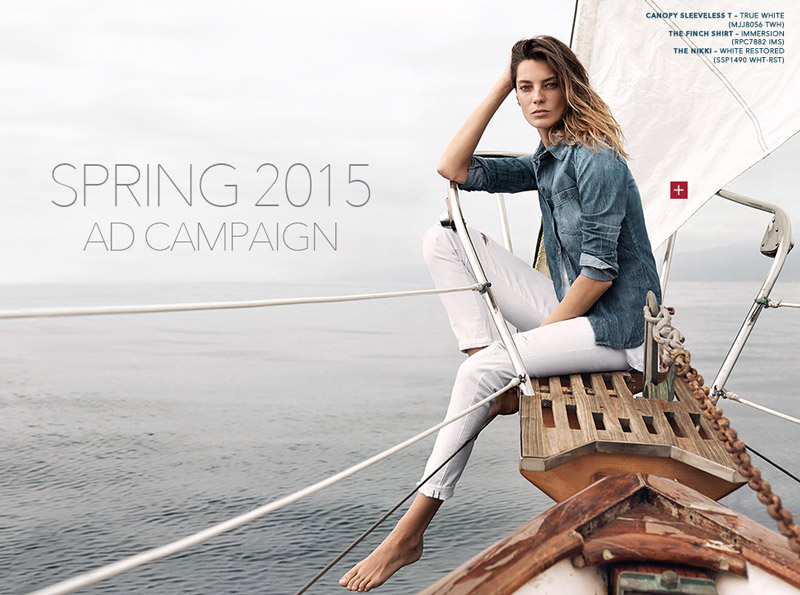 Daria Werbowy stars in AG Jeans' spring 2015 campaign