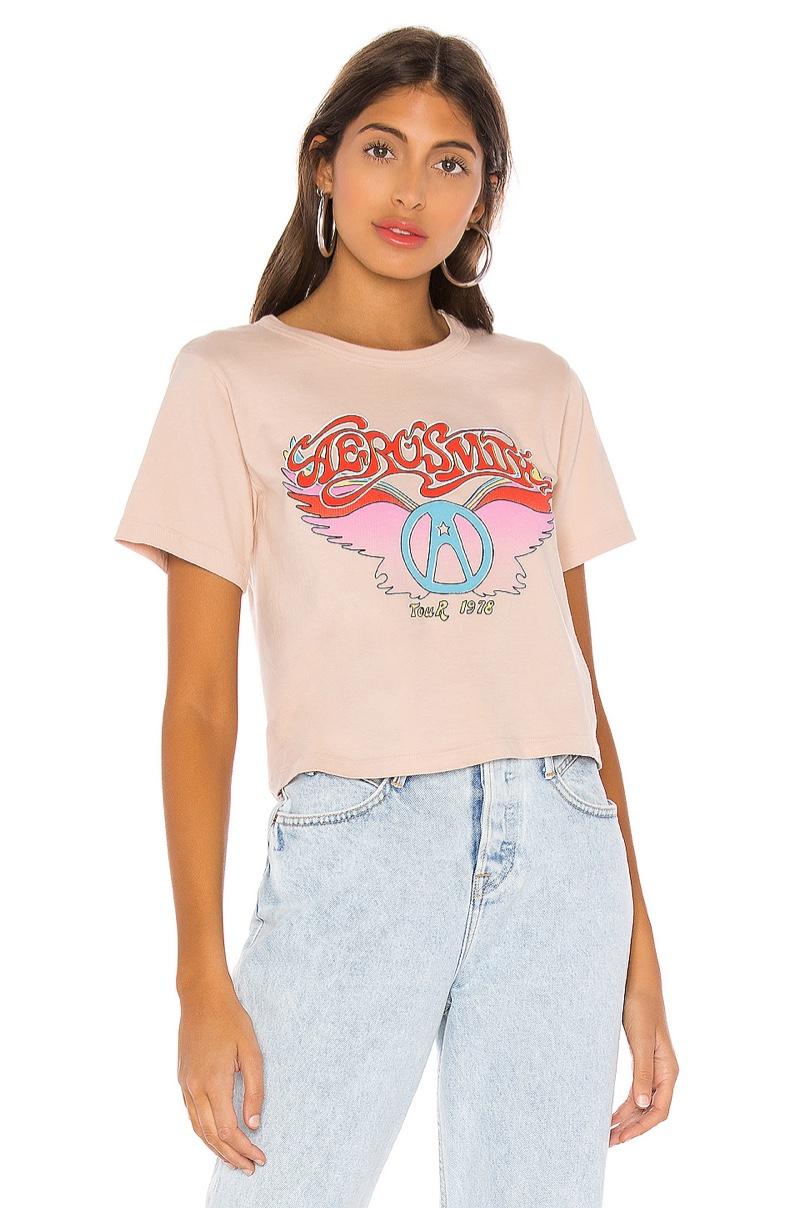 Daydreamer Aerosmith Wings Rebel Crop Tee $69