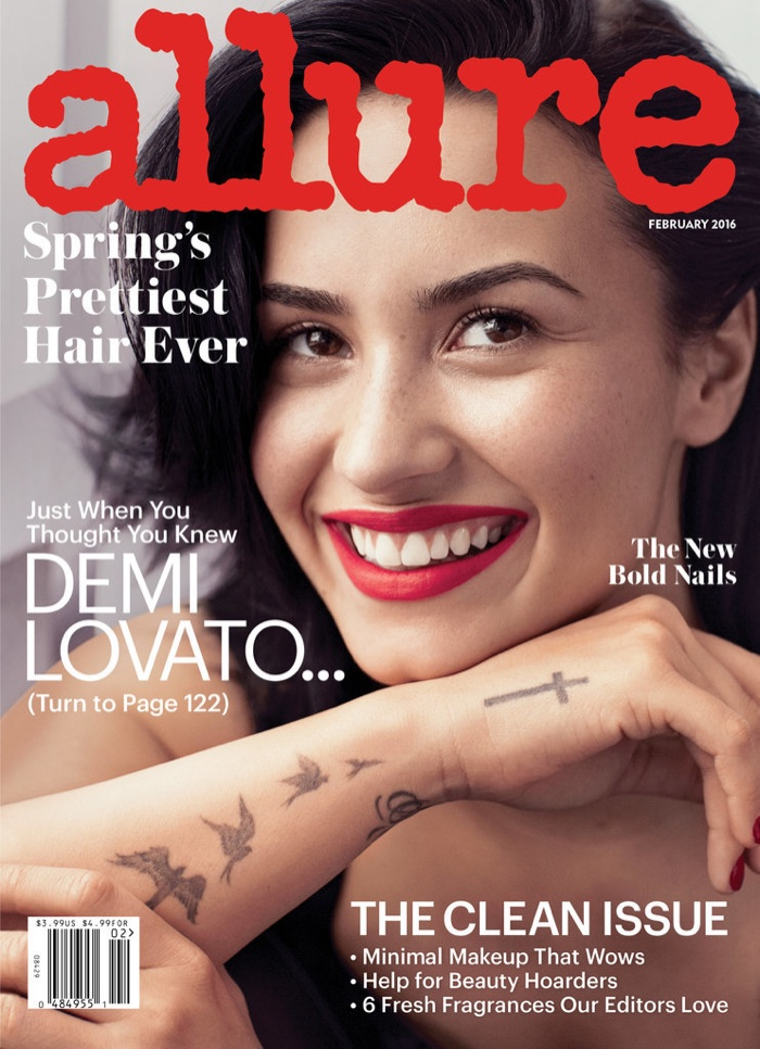 Demi Lovato on Allure February 2016 cover