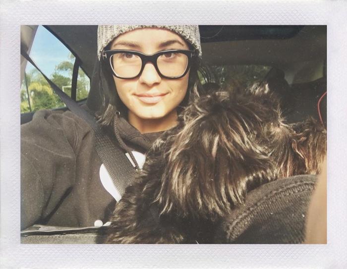 Demi Lovato takes a no makeup selfie for the #NoMakeupMonday hashtag on Instagram.