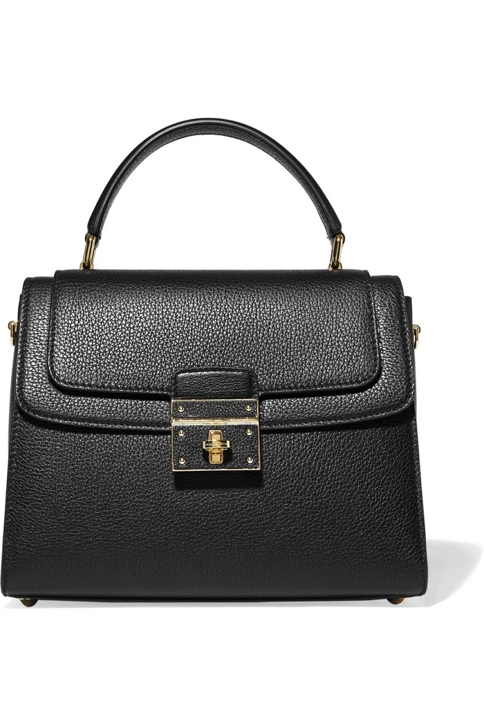 Dolce & Gabbana Greta Medium Textured Leather Tote Bag