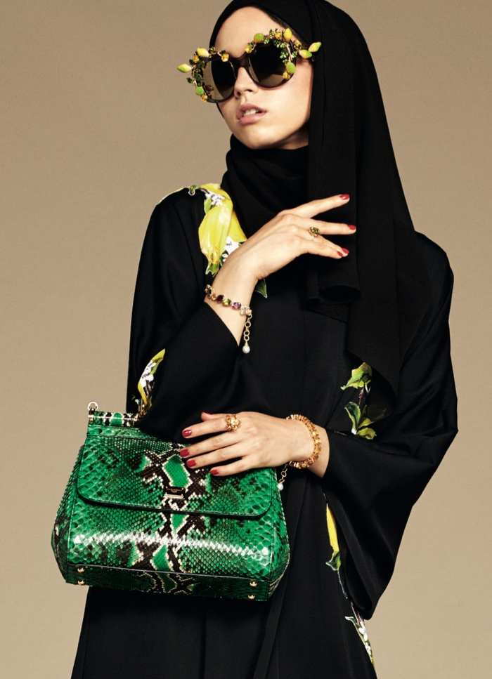 An image from Dolce & Gabbana's hijab and abaya collection