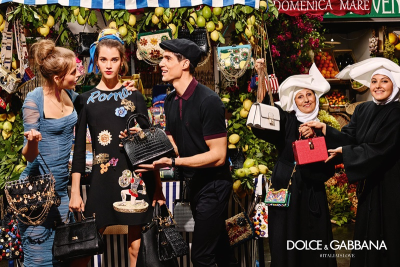 An image from Dolce & Gabbana's spring-summer 2016 campaign