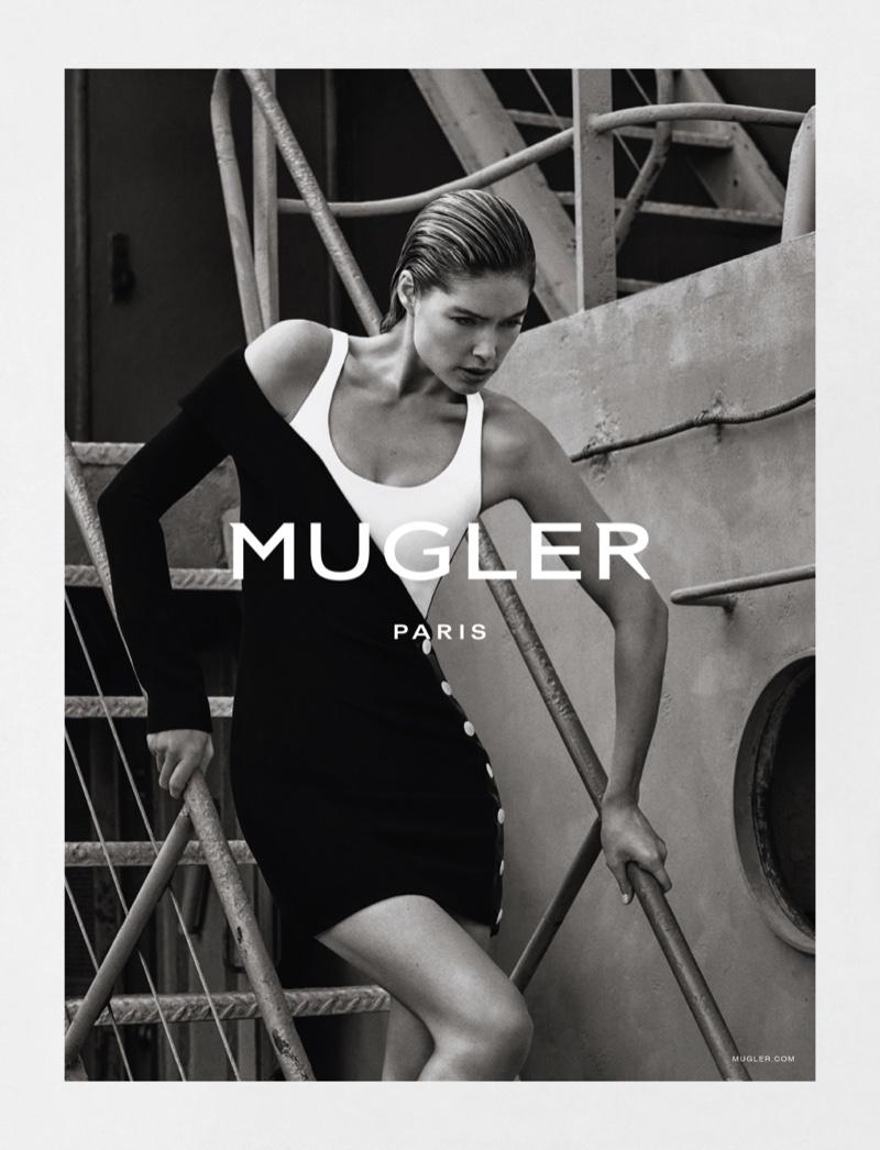 Doutzen Kroes stars in Mugler's spring-summer 2016 campaign