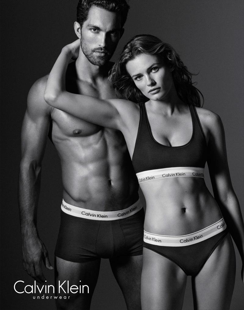 Edita Vilkeviciute and Tobias Sorensen star in Calvin Klein Underwear Evergreen spring-summer 2016 campaign