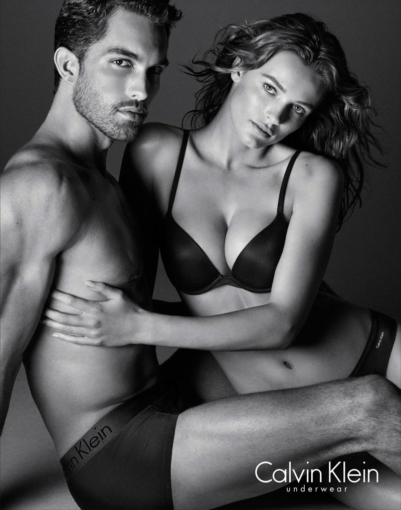 Edita Vilkeviciute and Tobias Sorensen in Calvin Klein Underwear campaign