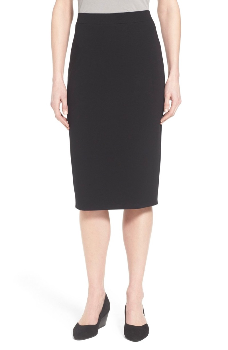 Eileen Fisher Black Pencil Skirt