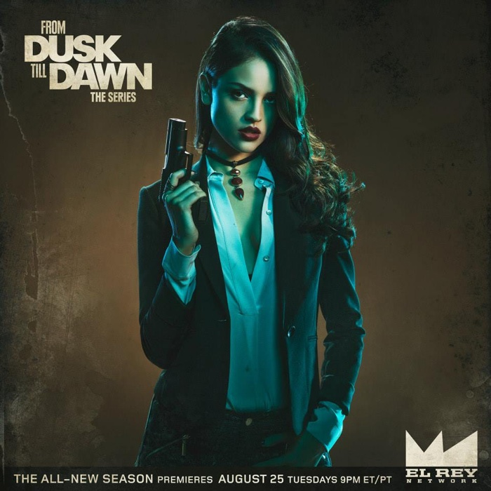 Eiza Gonzalez as Santiaco in From Dusk Till Dawn season 2 promotional image