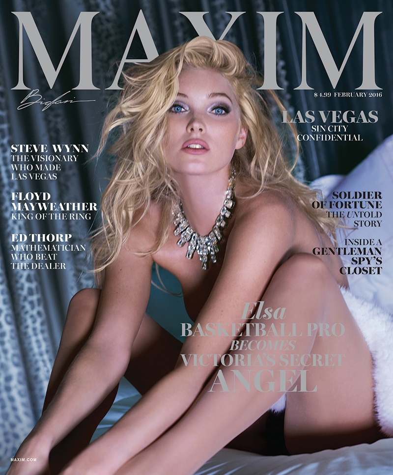 Elsa Hosk Channels Her Inner Show Girl For Maxim Cover Story