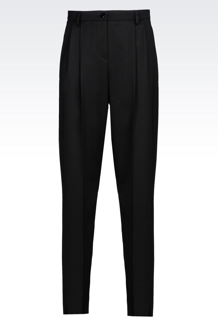 Emporio Armani Stretch Wool Trousers