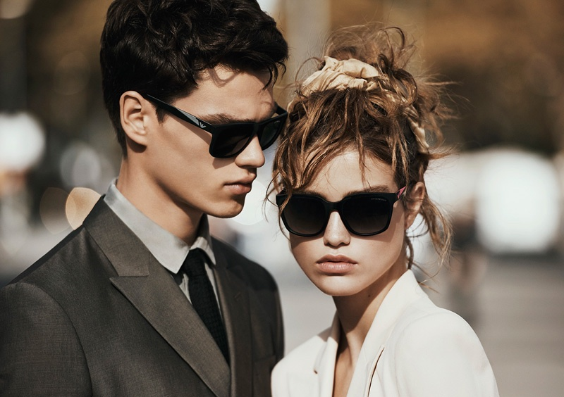 Emporio Armani spotlights its spring 2016 eyewear selection