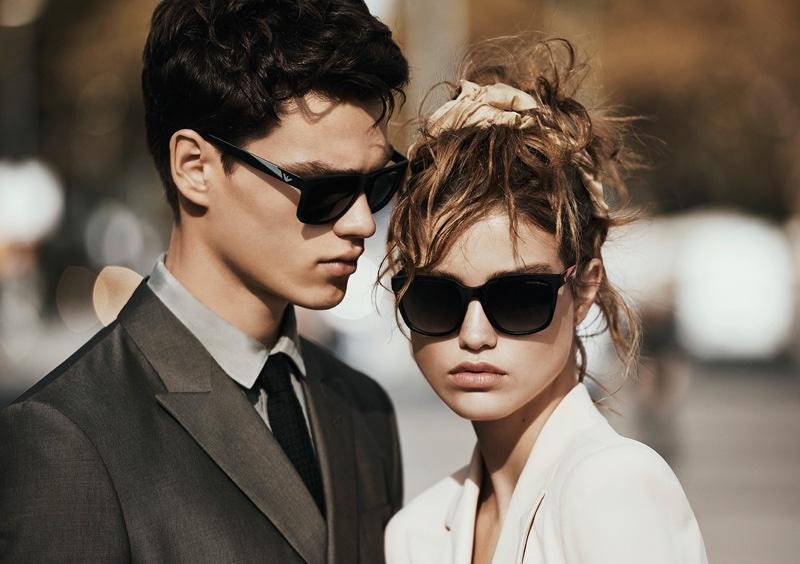Emporio Armani spotlights its spring 2016 eyewear selection