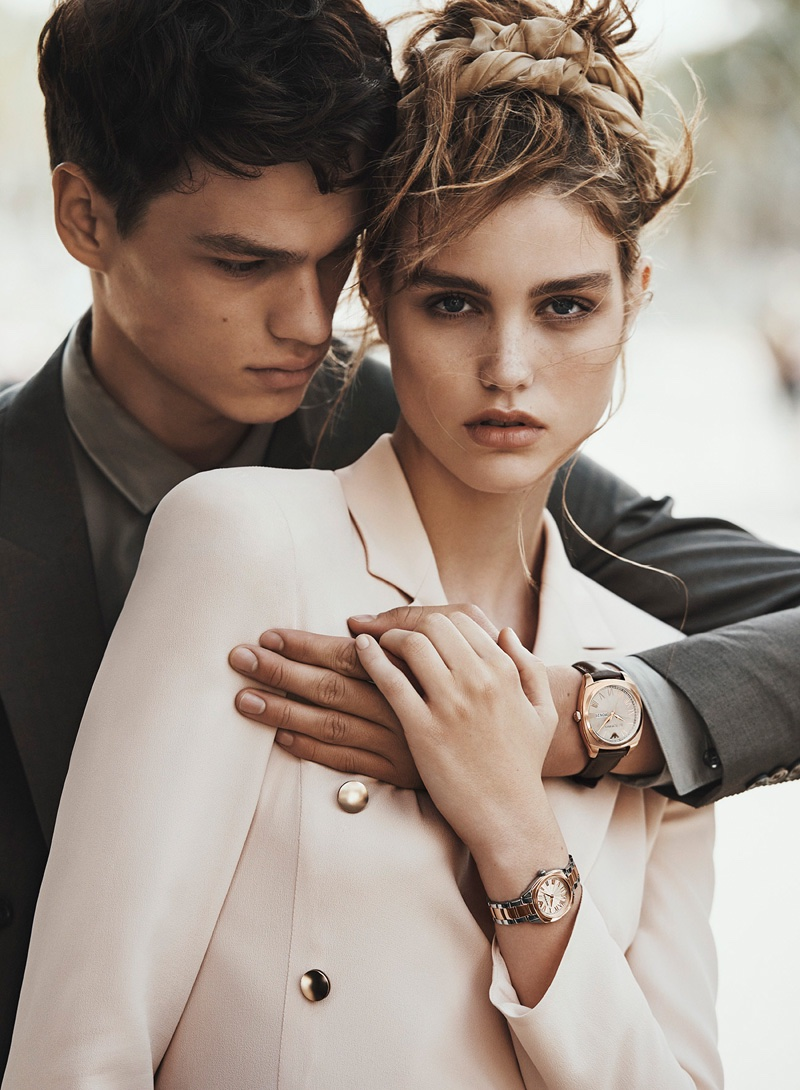 Luna Bijl and Filip Hrivnak star in Emporio Armani's spring-summer 2016 campaign