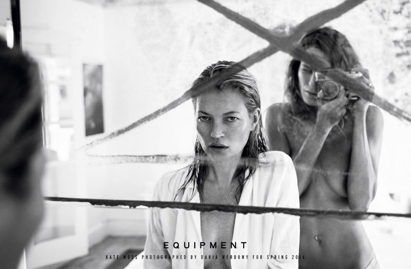 Kate Moss and Daria Werbowy star in Equipment's spring-summer 2016 campaign