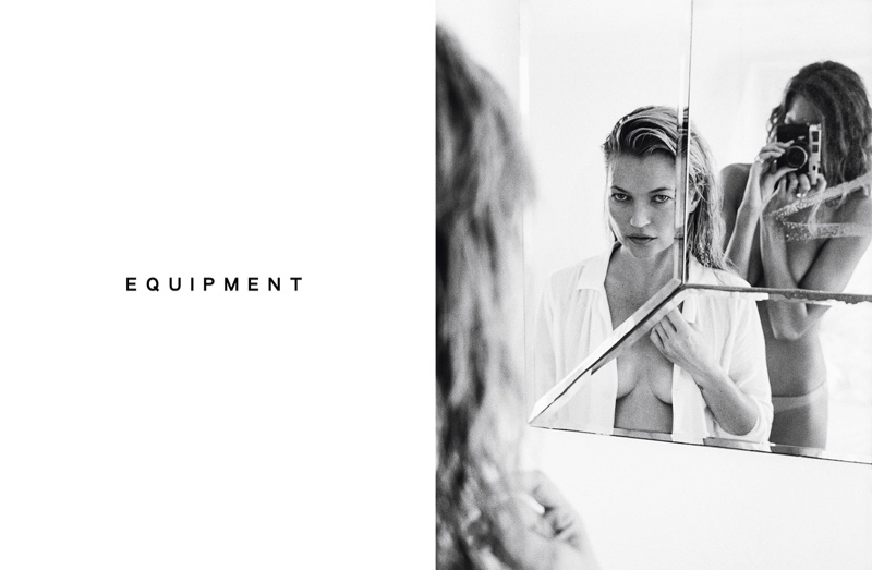 Kate Moss stars in Equipment's spring 2016 campaign
