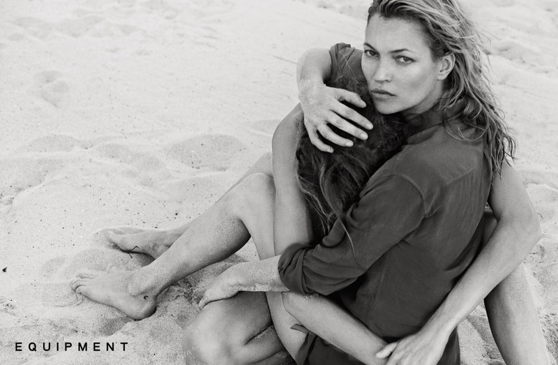 Daria Werbowy Photographs Kate Moss for Equipment's Spring Ads