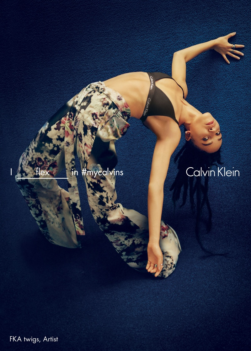 FKA Twigs poses in Calvin Klein's spring 2016 campaign