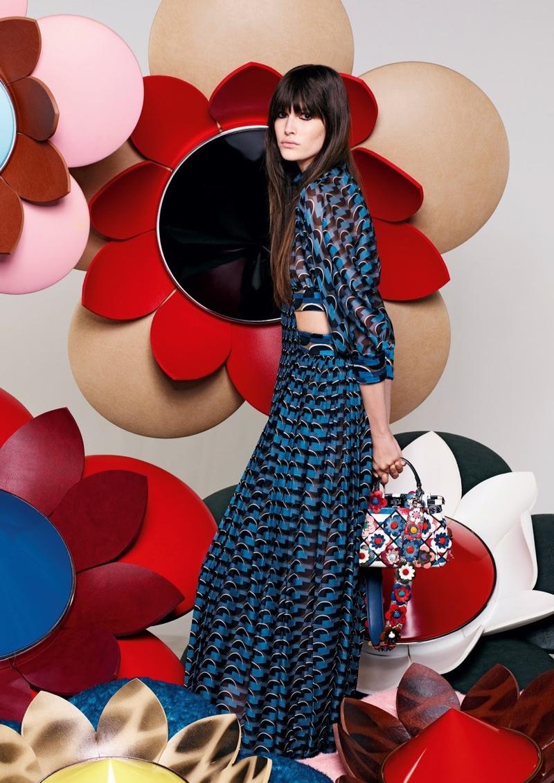 Vanessa Moody stars in Fendi's spring 2016 campaign