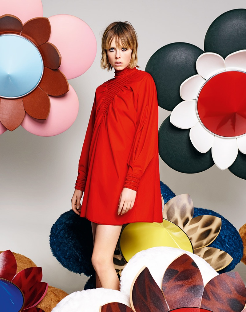 Edie Campbell stars in Fendi's spring 2016 campaign
