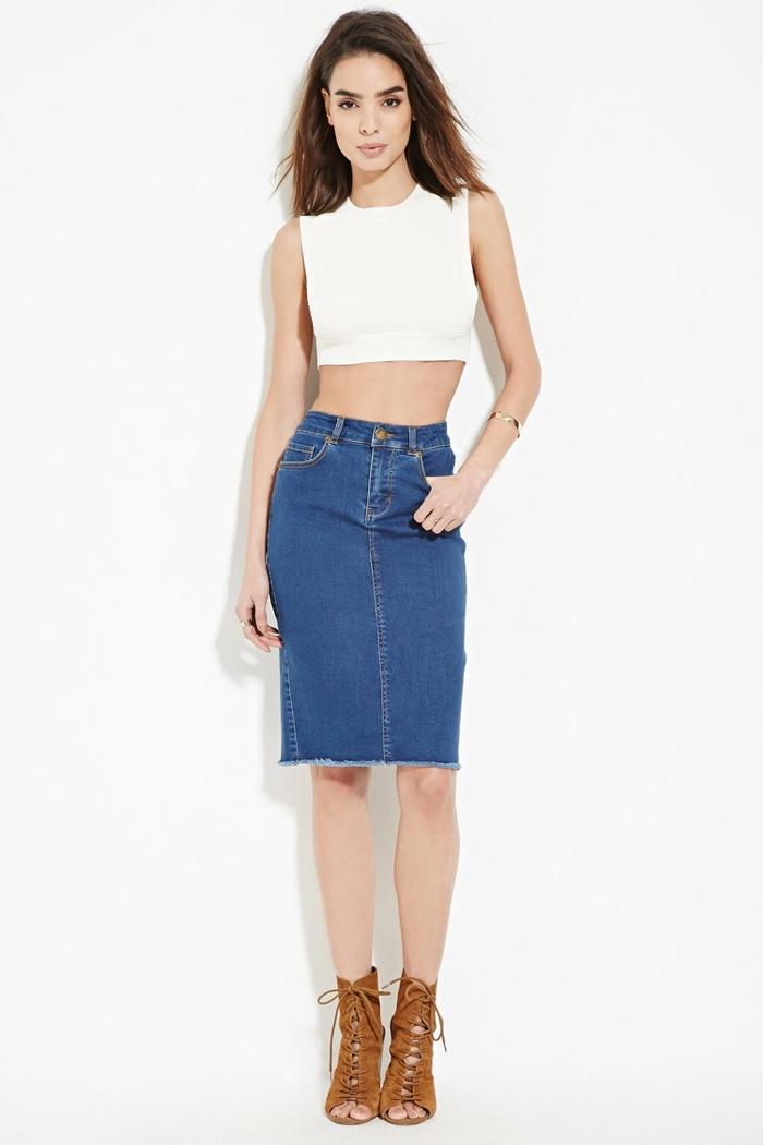Forever 21 Contemporary Denim Skirt