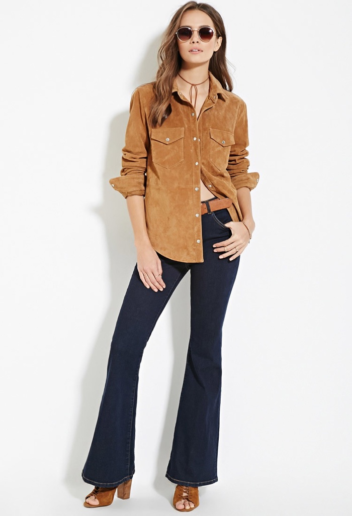 Forever 21 Contemporary Life in Progress Flared Jeans