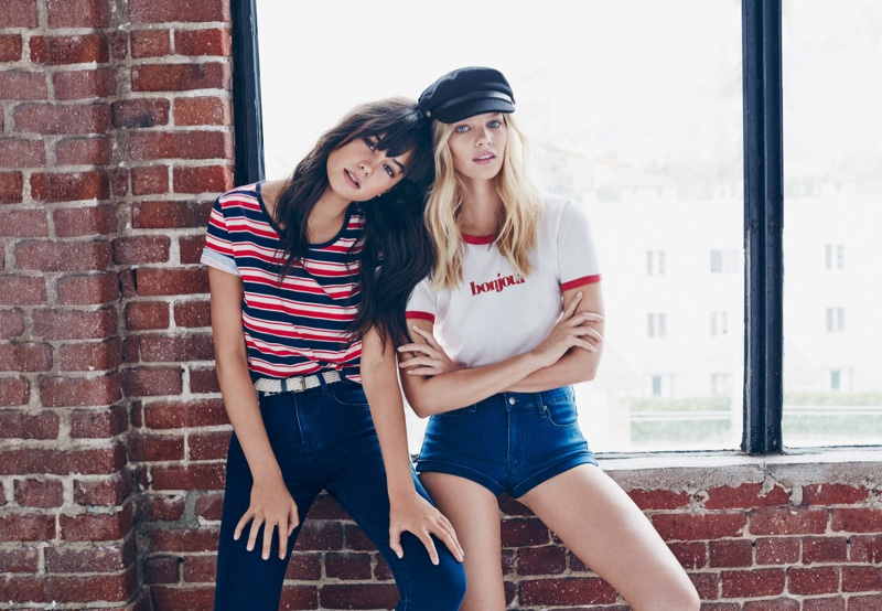 Courtney Eaton and Marloes Horst star in Forever 21's spring 2016 campaign