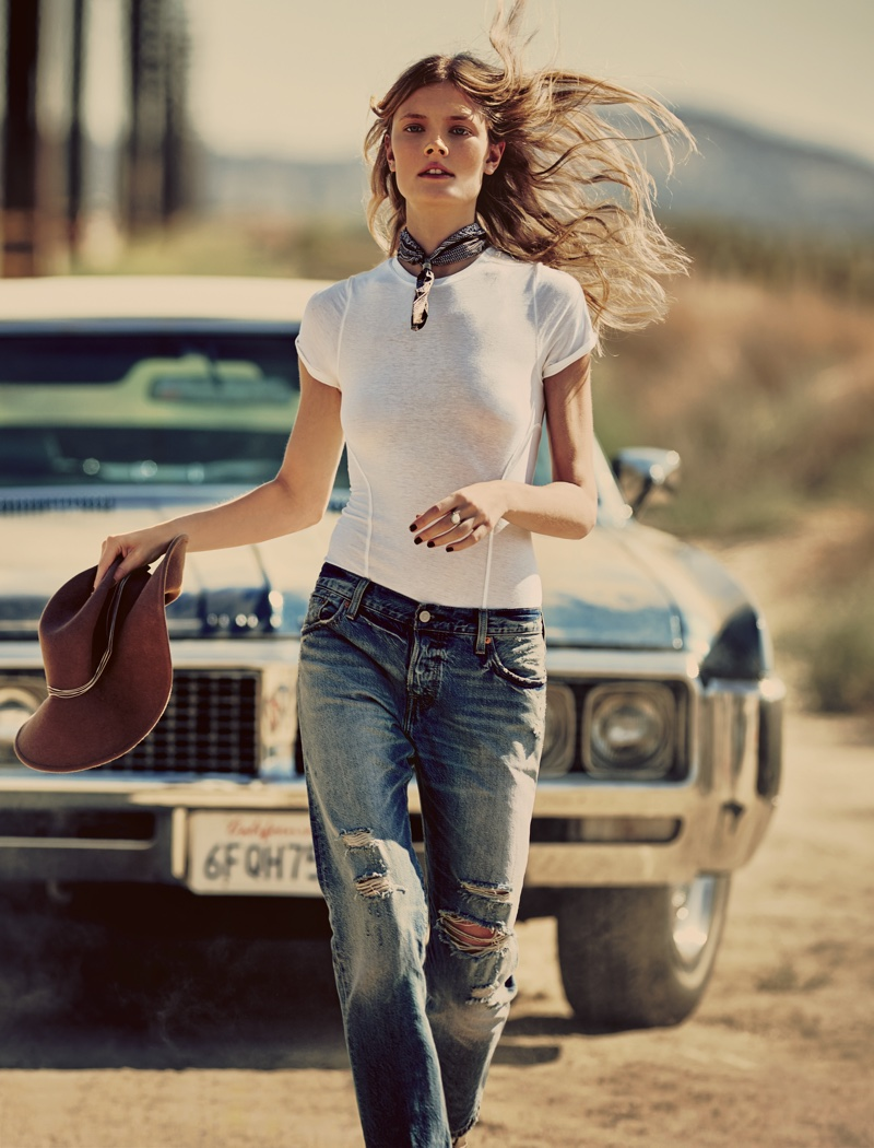 Intimately Free People Keeping Up Bodysuit, Levi's 501 CT Jean