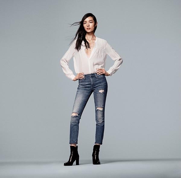Fei Fei Sun stars in Gap's spring 2016 denim campaign