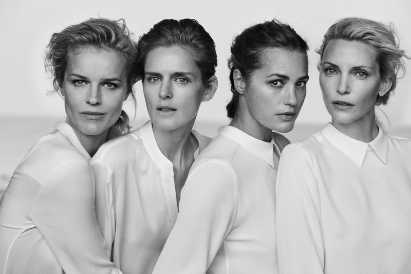 Peter Lindbergh photographs Giorgio Armani's New Normal spring 2016 campaign