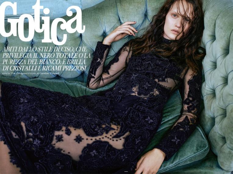 The New Gothic: Grazia Italy Embraces Dark & Romantic Fashions