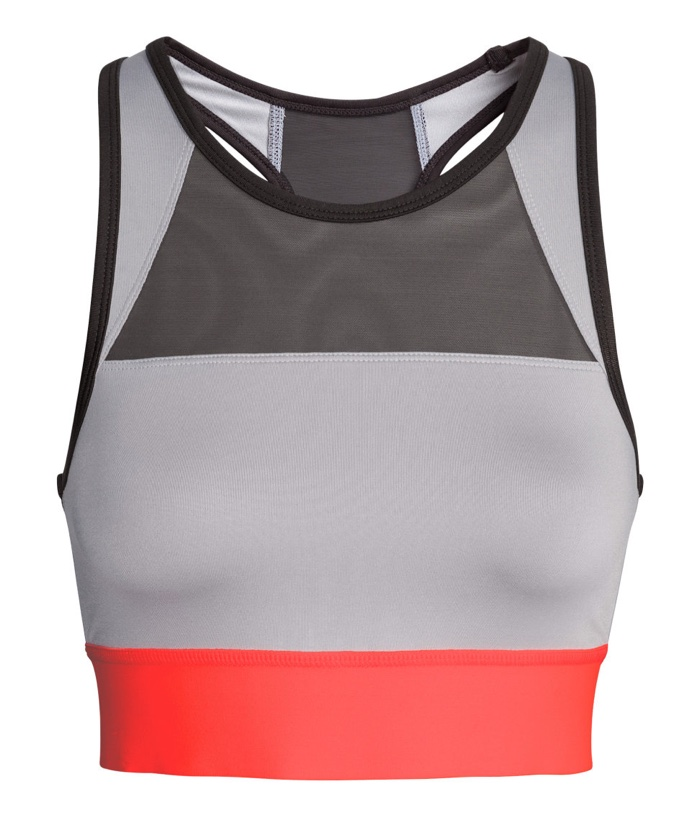 H&M Sport Color Blocked Medium Support Sports Bra
