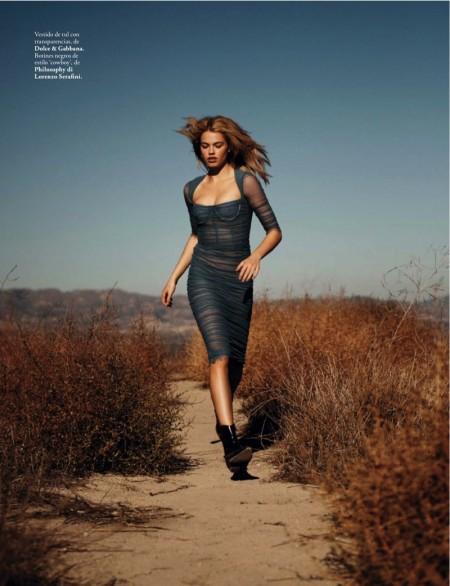 Free Spirit: Hailey Clauson Models Dreamy Dresses in ELLE Spain